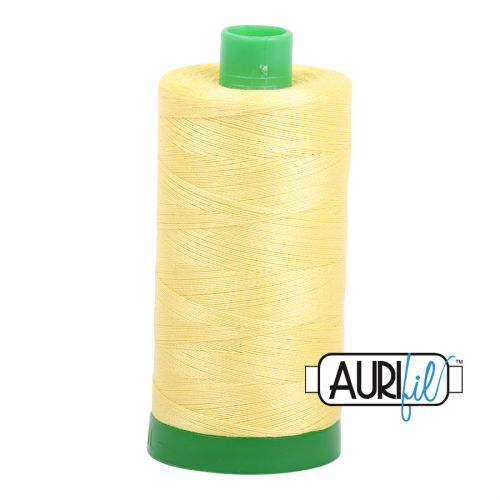 Aurifil Cotton 40wt, 2115 Lemon