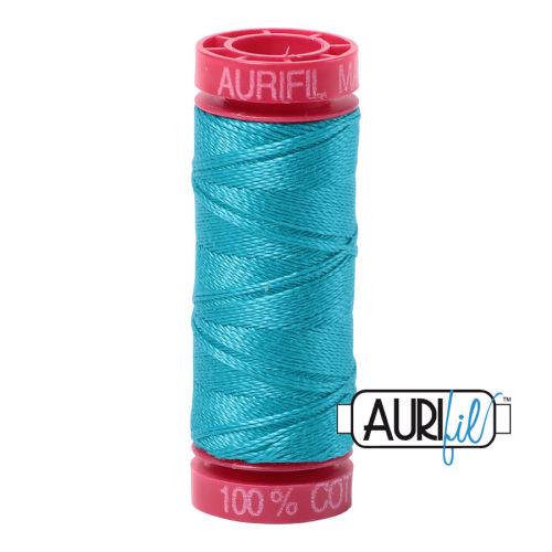Aurifil Cotton 12wt, 2810 Turquoise