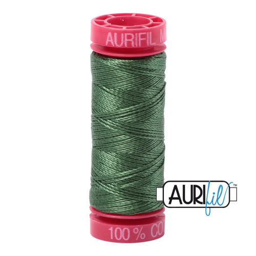 Aurifil Cotton 12wt, 2890 Very Dark Grass Green