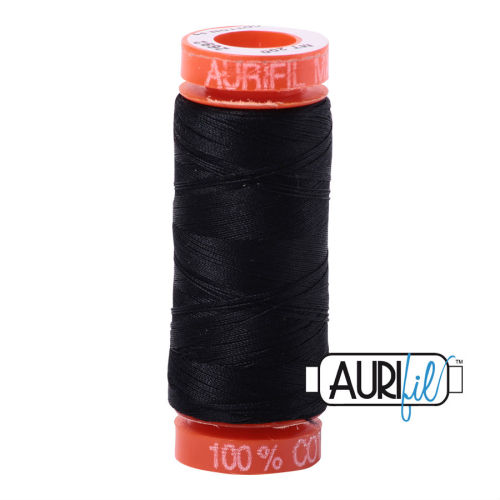 Aurifil Cotton 50wt, 2692 Black