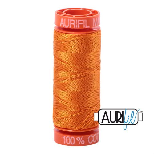 Aurifil Cotton 50wt, 1133 Bright Orange