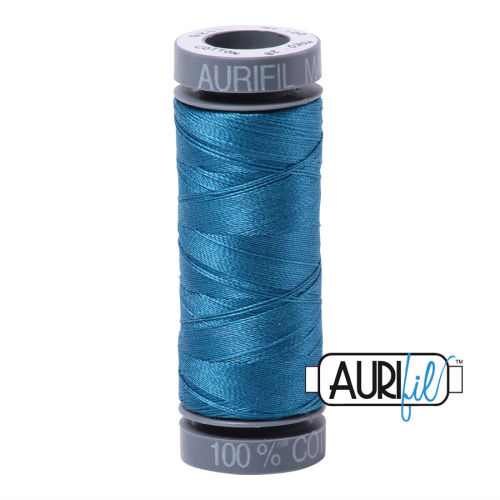 Aurifil Cotton 28wt, 1125 Medium Teal