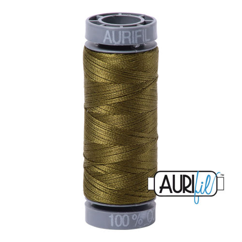 Aurifil Cotton 28wt, 2887 Very Dark Olive
