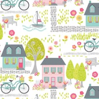 Cherry Blossom Quilt Studio - Sunday Ride - Houses