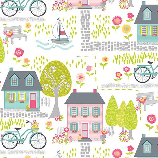 Cherry Blossom Quilt Studio - Sunday Ride - Houses