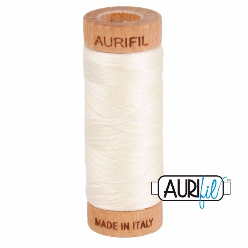 Aurifil Cotton 80wt, 2026 Chalk