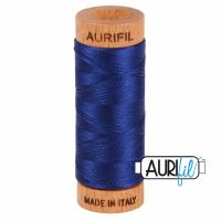 Aurifil Cotton 80wt, 2784 Dark Navy