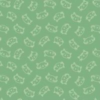 Crafty Cats - Heads - Green