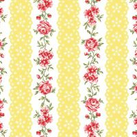 Benartex - Simply Chic - Flora Eye Ribbon Butter - 3815
