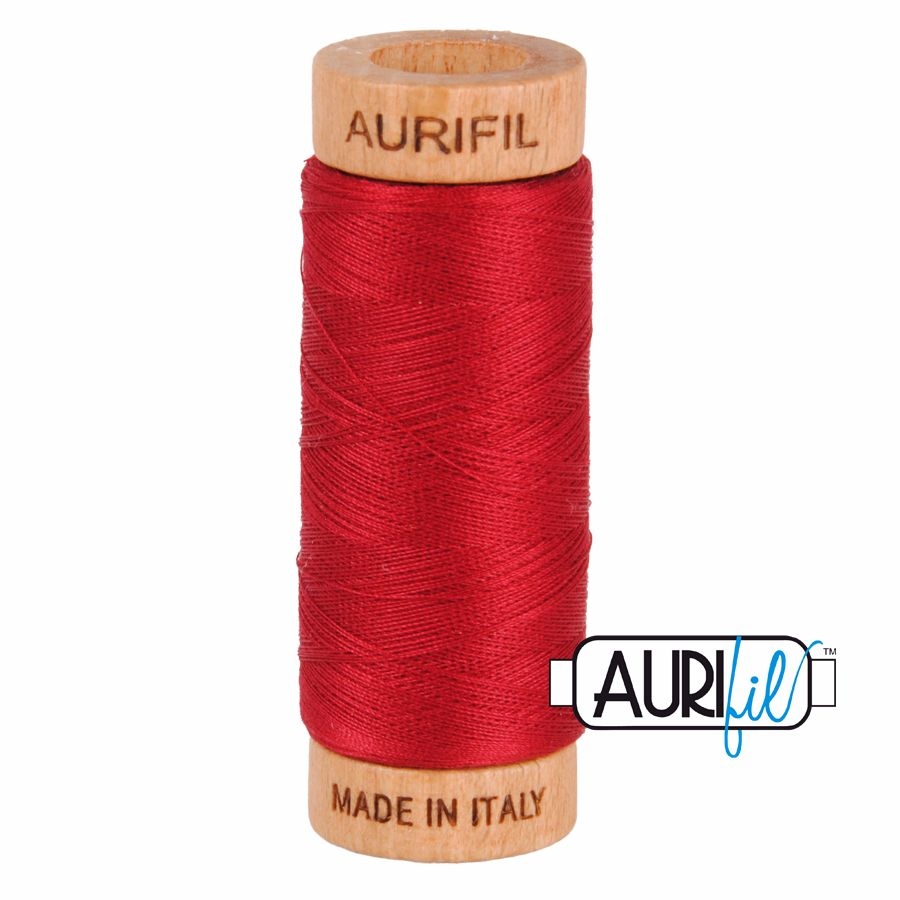 Aurifil Cotton 80wt, 2260 Red Wine