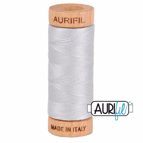 Aurifil Cotton 80wt, 2600 Dove