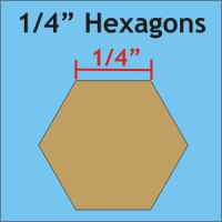 "1/4"" Hexagon Paper Pieces"