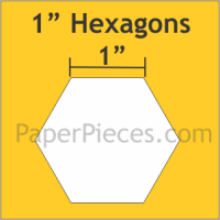 "1"" Hexagon Paper Pieces"