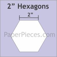 "2"" Hexagon Paper Pieces"