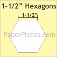 "1-1/2"" Hexagon Paper Pieces"