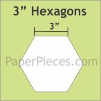 "3"" Hexagon Paper Pieces"