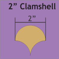 """2"""" Clamshell Paper Pieces"""