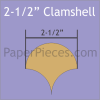 """2-1/2"""" Clamshell Paper Pieces"""