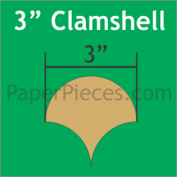 """3"""" Clamshell Paper Pieces"""
