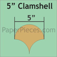 """5"""" Clamshell Paper Pieces"""