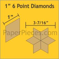 "1"" 6 Point/60 Degree Diamond Paper Pieces"