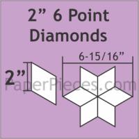 "2"" 6 Point/60 Degree Diamond Paper Pieces"