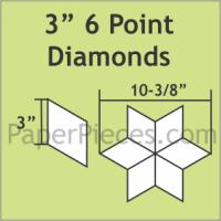 "3"" 6 Point/60 Degree Diamond Paper Pieces"