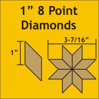 "1"" 8 Point/45 Degree Diamond Paper Pieces"