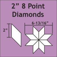 "2"" 8 Point/45 Degree Diamond Paper Pieces"