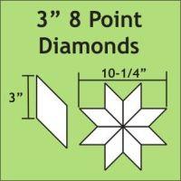 "3"" 8 Point/45 Degree Diamond Paper Pieces"