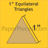 """1"""" Equilateral Triangle Paper Pieces"""