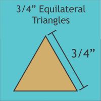 """3/4"""" Equilateral Triangle Paper Pieces"""