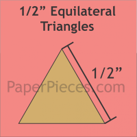 """1/2"""" Equilateral Triangle Paper Pieces"""