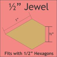 "1/2"" Jewel Paper Pieces"