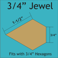 "3/4"" Jewel Paper Pieces"