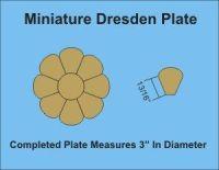 8 Petal Miniature Dresden Plate Paper Pieces