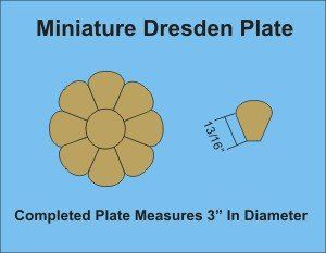 Miniature Dresden Plate Paper Pieces