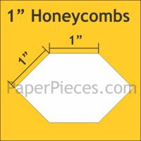 "1"" Honeycomb Paper Pieces"
