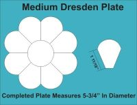 8 Petal Medium Dresden Plate Paper Pieces