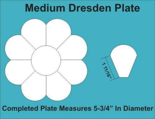 8 Petal Medium Dresden Plate Paper Pieces