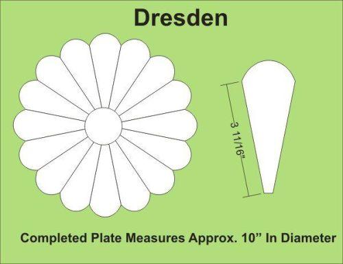 16 Petal Dresden Plate Paper Pieces