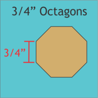 "3/4"" Octagon Paper Pieces"
