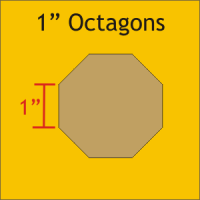 "1"" Octagon Paper Pieces"
