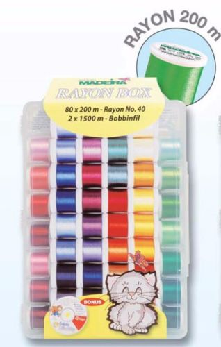 Madeira Rayon No.40 Embroidery Box