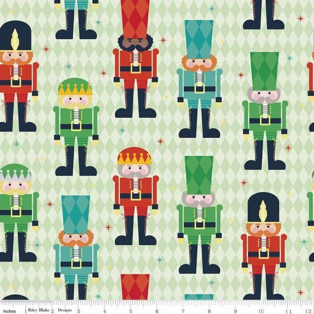 Riley Blake - Nutcracker Christmas Main - Green C5330