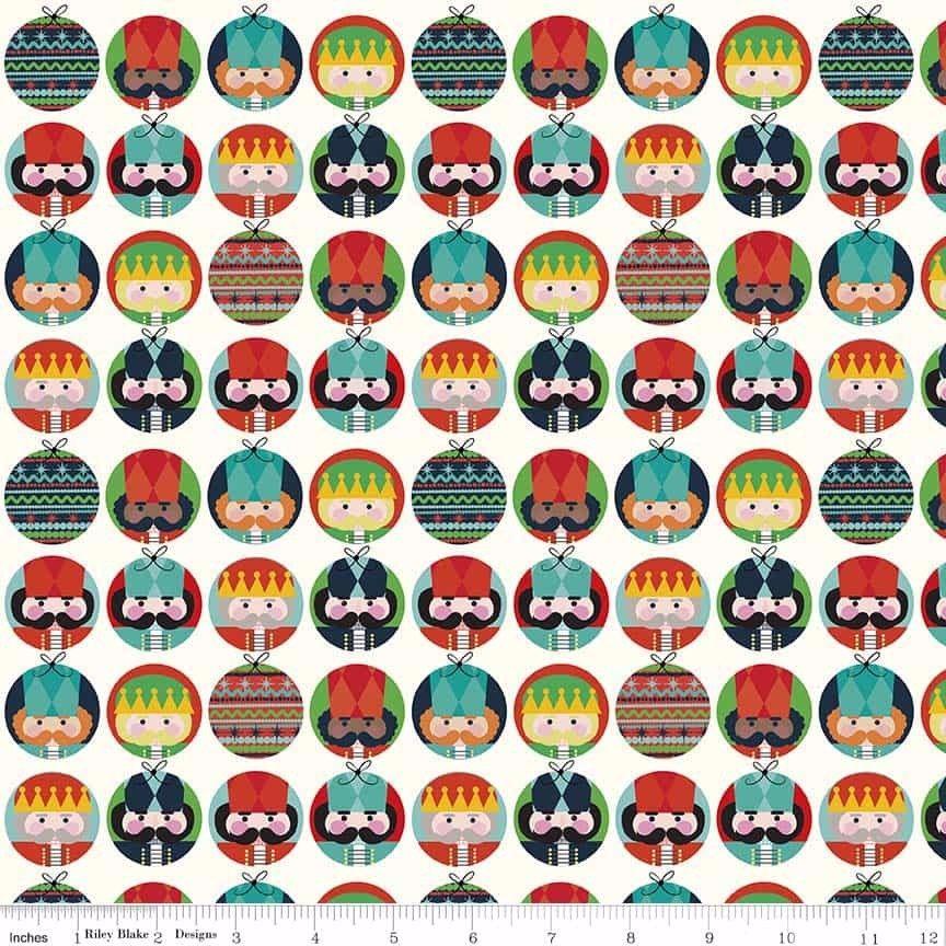 Riley Blake - Nutcracker Christmas Dots - Cream C5332