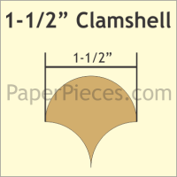 """1-1/2"""" Clamshell Paper Pieces"""