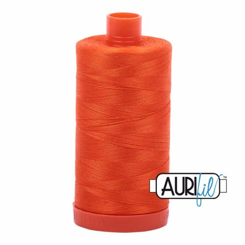 Aurifil Cotton 50wt, 1104 Neon Orange