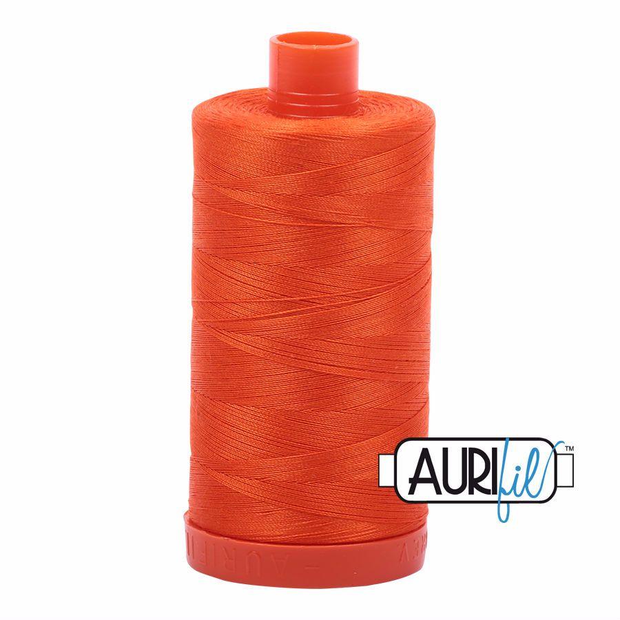 Aurifil Cotton 50wt, 1104 Neon Orange