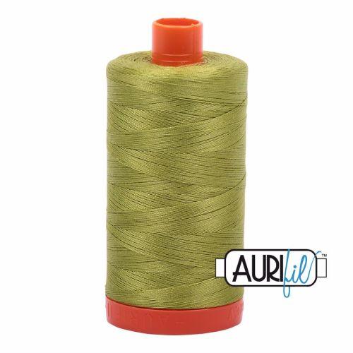 Aurifil Cotton 50wt, 1147 Light Leaf Green